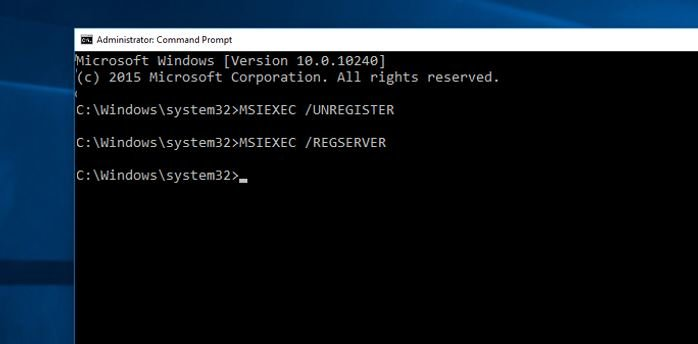 Re-register Windows Installer Service