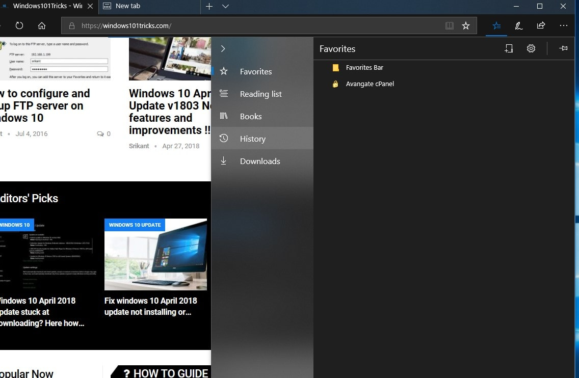 Bigger, better Hub on Microsoft Edge