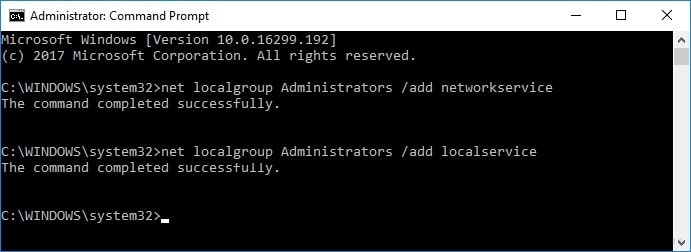Add Relevant Privileges to Administrator Account