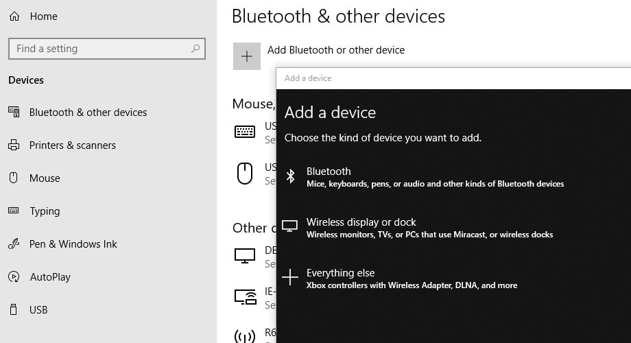 Enable Bluetooth in Windows 10
