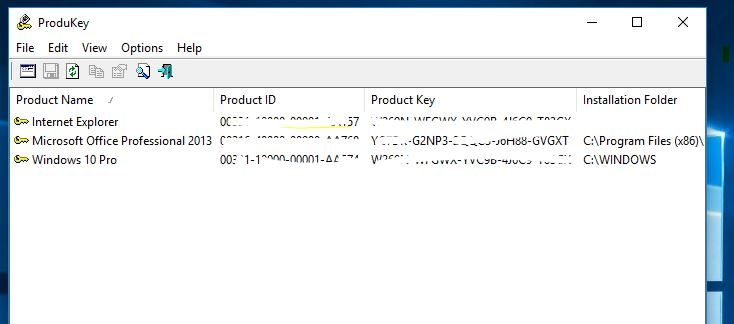Note Down the product key