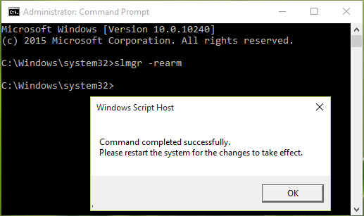 remove the current Windows license