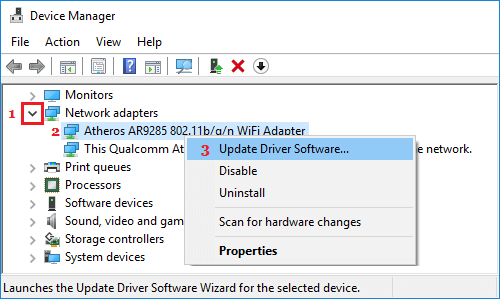 update wifi adapter driver software