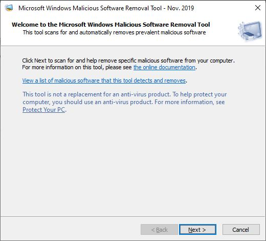 Malicious Software Removal Tool