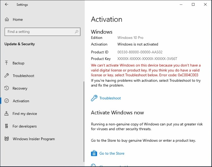 Check Windows 10 Activated