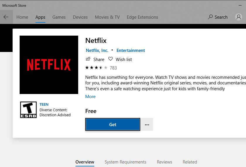 Download Netflix app