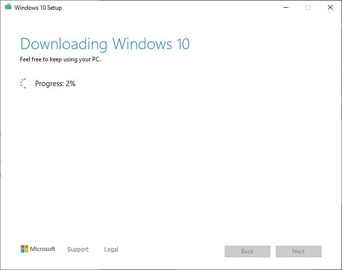 Media creation tool downloading win 10 ISO