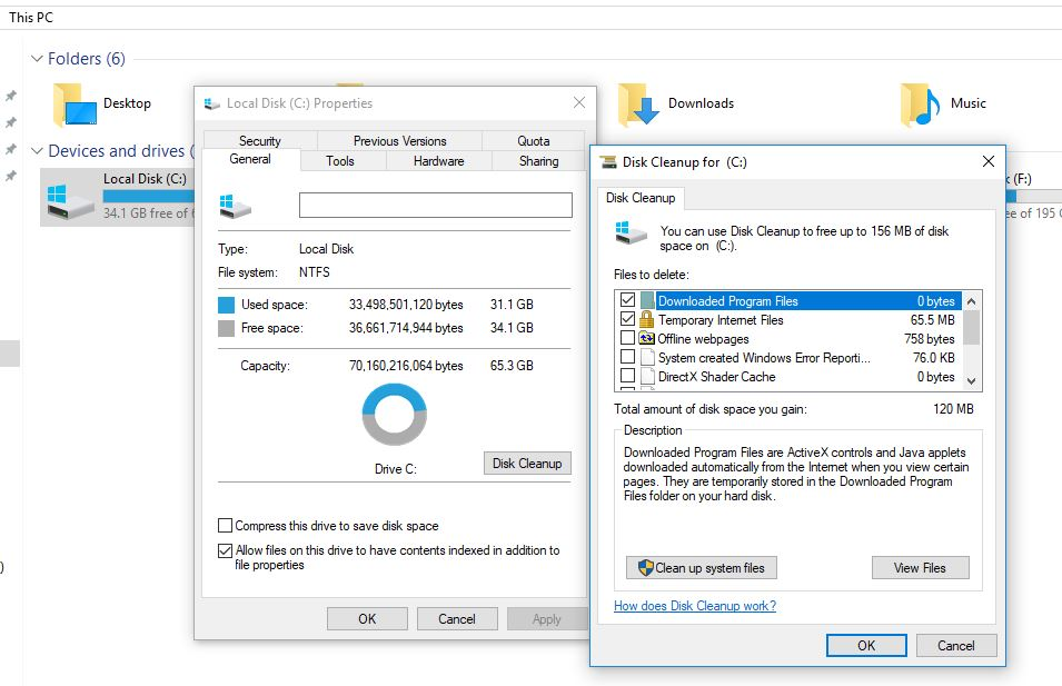 perform Disk Cleanup on Windows 10